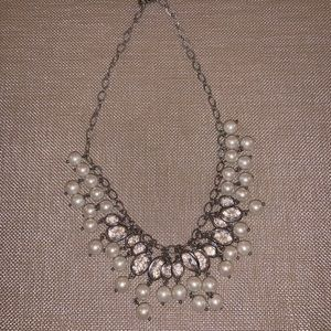 Talbots Silver & Pearl Necklace